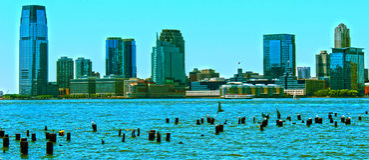 Horizon de New Jersey Images libres de droits