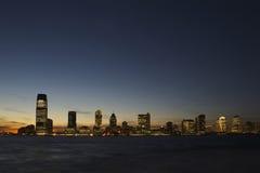 Horizon de New Jersey au crépuscule Photographie stock libre de droits