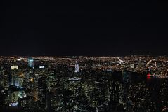 Horizon de New York Images libres de droits