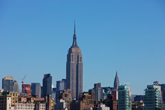 Horizon de New York avec l'Empire State Building Images libres de droits