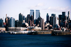 Horizon de New York City Images libres de droits