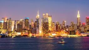 Horizon de New York City banque de vidéos