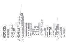 Horizon de New York City Photo libre de droits