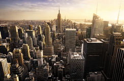Horizon de New York City Photographie stock libre de droits