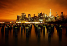 Horizon de New York City Photos stock