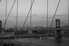Horizon de New York City - B&W Image stock