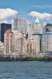 Horizon de New York City de New Jersey Photo libre de droits