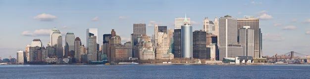 Horizon de New York City/Lower Manhattan Photo stock