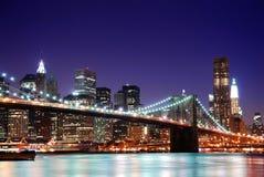 Horizon de New York City Manhattan Photos stock