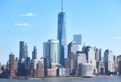 Horizon de New York City Manhattan Images libres de droits