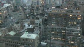 Horizon de New York City pendant le matin banque de vidéos