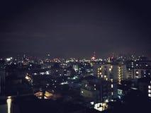 Horizon de nuit de Bangkok image stock