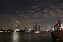 Horizon de nuit de Bangkok Photo stock