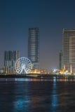 Horizon de nuit de ville du Charjah Photos libres de droits