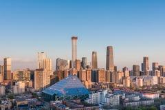 Horizon de Pékin CBD images libres de droits