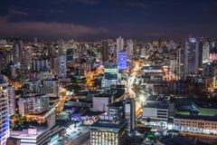Horizon de Panama City images libres de droits