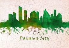 Horizon de Panama City illustration libre de droits