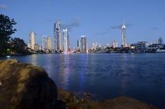 Horizon de paradis de surfers - Australie du Queensland Photo libre de droits
