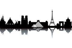 Horizon de Paris Images libres de droits