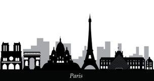 Horizon de Paris de Notre Dame de Paris Images stock