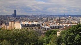 Horizon de Paris de Notre Dame de Paris Images libres de droits