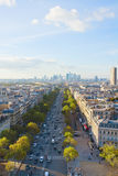 Horizon de Paris et de district de la défense de La, France Photographie stock