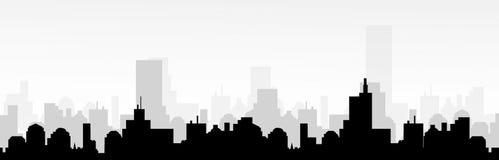 Horizon de paysage urbain - vecteur Photos stock