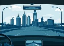 horizon de Philadelphie illustration de vecteur