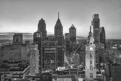 horizon de Philadelphie Photographie stock libre de droits