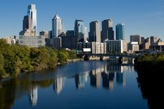 horizon de Philadelphie Photographie stock