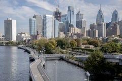 horizon de Philadelphie Image stock