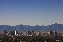 Horizon de Phoenix, Arizona Images libres de droits