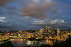 Horizon de Pittsburgh Photographie stock libre de droits