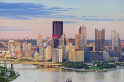 Horizon de Pittsburgh Images libres de droits