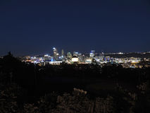 horizon de Pittsburgh de nuit Photo stock