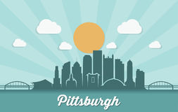 Horizon de Pittsburgh - Pennsylvanie - illustration de vecteur illustration stock