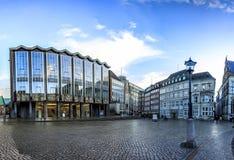 Horizon de place principale du marché de Brême, Allemagne Photographie stock libre de droits