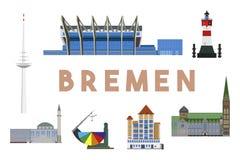 Horizon de points de repère de Brême Photos libres de droits