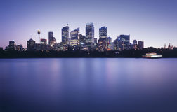 Horizon de port de Sydney Photos stock