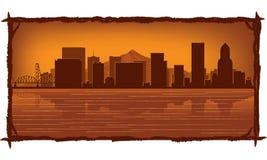 Horizon de Portland illustration stock