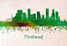 Horizon de Portland Or?gon illustration de vecteur