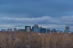 Horizon de Portland niché dans la réserve inférieure de chênes Photographie stock libre de droits