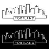 Horizon de Portland style linéaire illustration libre de droits