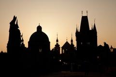 Horizon de Prague Images libres de droits