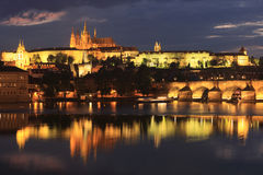 Horizon de Prague Image stock