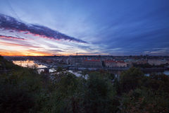 Horizon de Prague Photographie stock