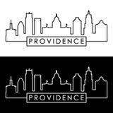 Horizon de Providence style linéaire illustration de vecteur