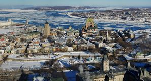 Horizon de Quebec City Image libre de droits