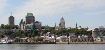 Horizon de Quebec City Photographie stock