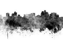 Horizon de Reno dans l'aquarelle noire sur le fond blanc illustration libre de droits